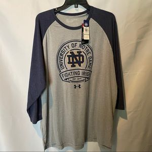 Under Armour Notre Dame Long Sleeved Tee XXL NWT